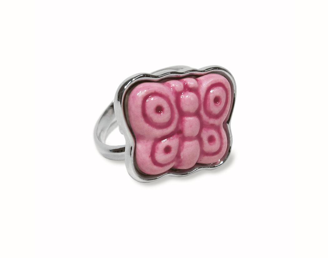 Anello rosa farfalle v2629s80 vaccarino casalinghi - Casalinghi vendita on line ...