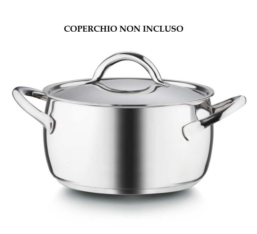 Casseruola acciaio inox triplo fondo venice - Casalinghi design ...