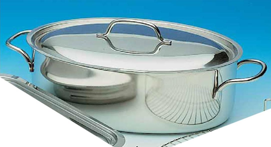 Casseruola ovale con coperchio - Casalinghi vendita on line ...