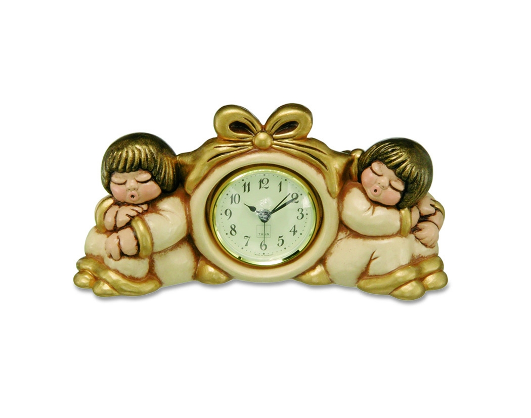 Orologio coppia angeli con sveglia champagne c719b83 for Lavagna con orologio thun